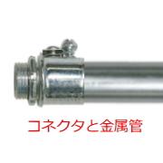 コネクタと金属管の写真